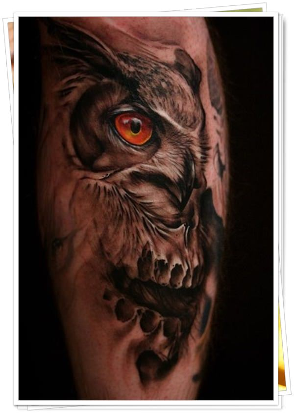 owl tattoo 8