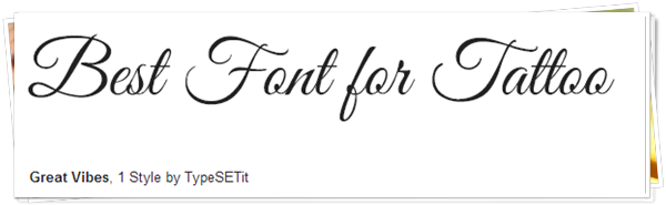 best fonts for tattoo 3