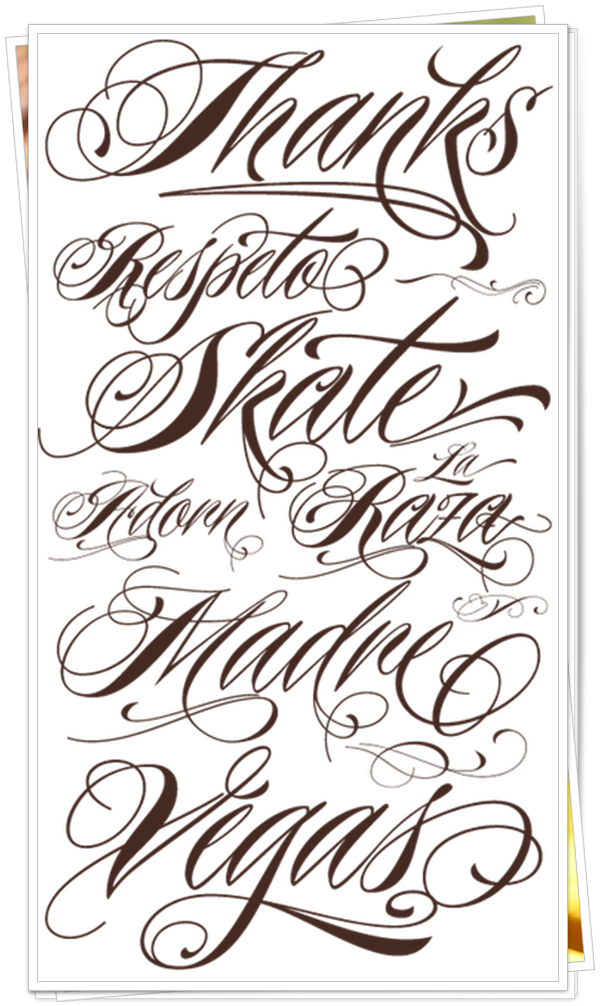 best fonts for tattoo 6