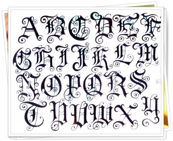 best fonts for tattoo 7