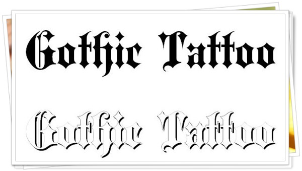 best fonts for tattoo 9