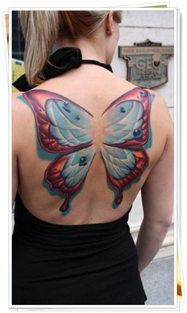 Butterfly Wings Tattoo Designs-Female Wings Tattoos