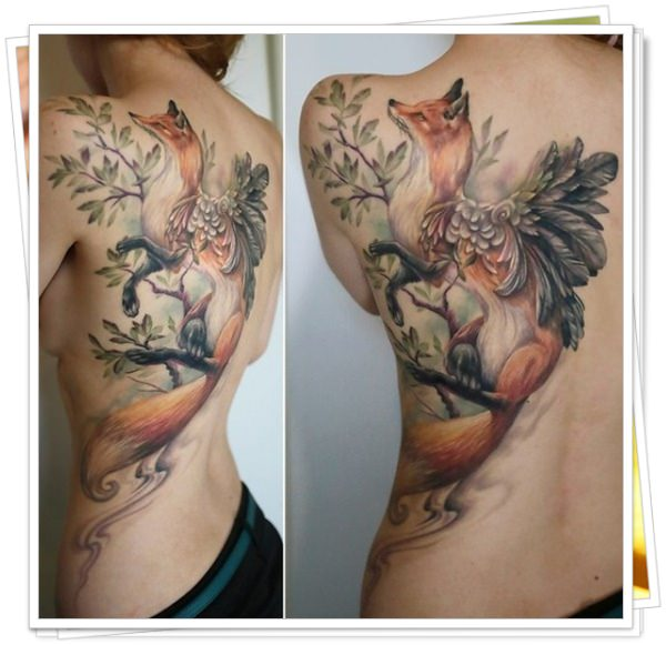 tattoo on womens back 18