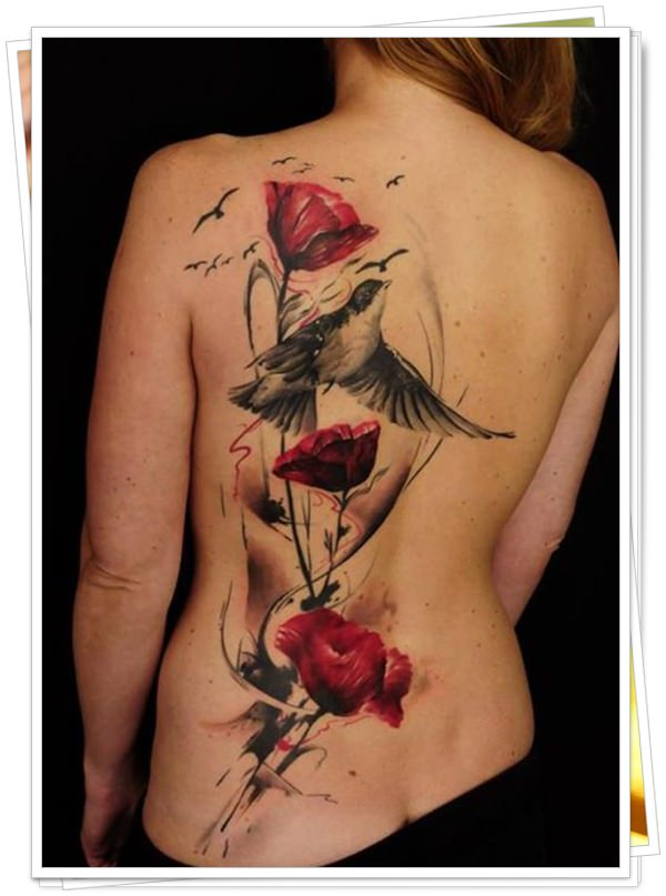 tattoo on womens back 3