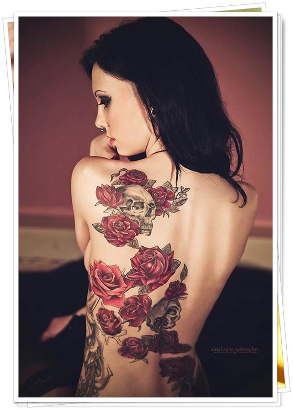 tattoo on womens back 4