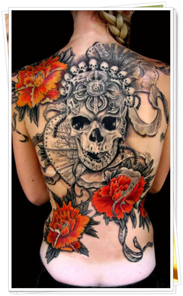 tattoo on womens back 40