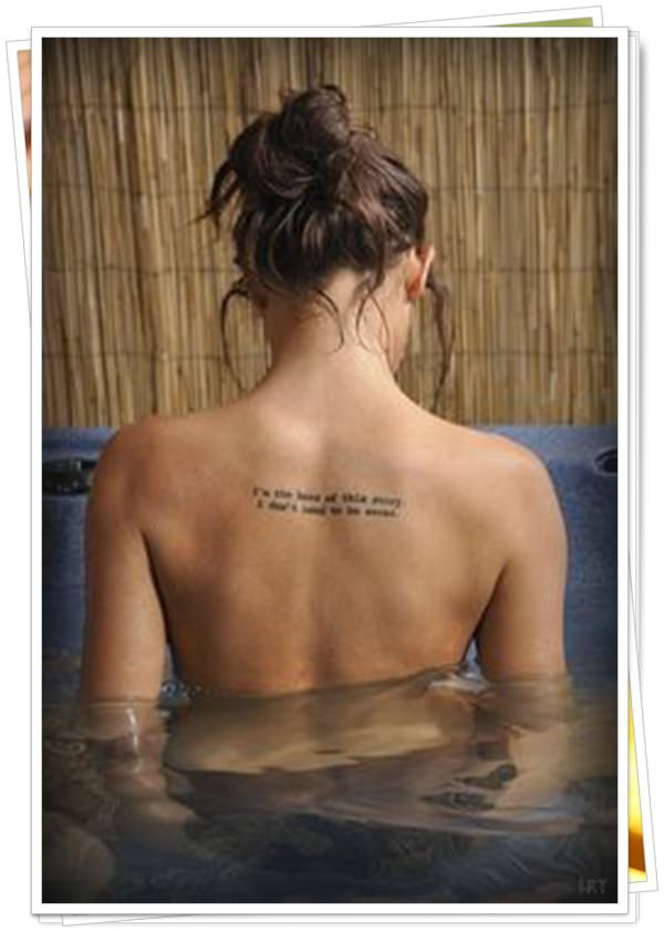 women's tattoos on the back 23