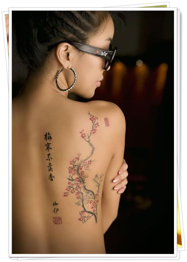 women's tattoos on the back 3