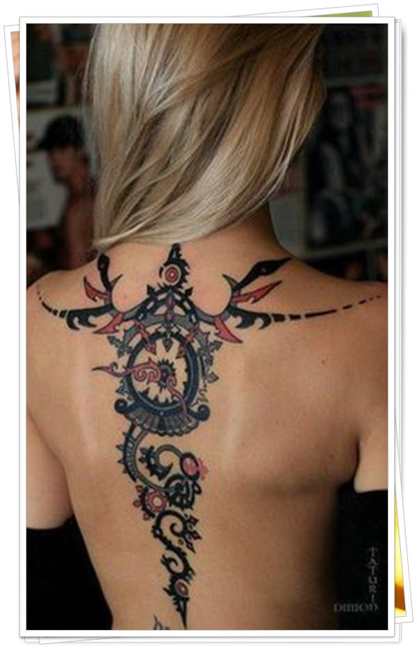 women's tattoos on the back 39