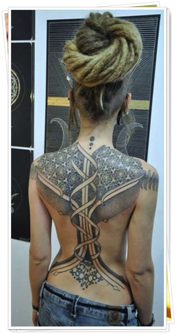 women's tattoos on the back 41